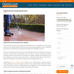 Best High Pressure Cleaning Services in Sydney
