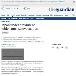 Japan under pressure to widen nuclear evacuation zone
