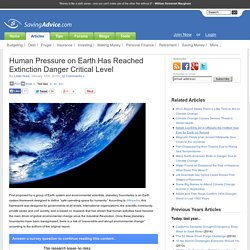 Human Pressure on Earth Has Reached Extinction Danger Critical Level