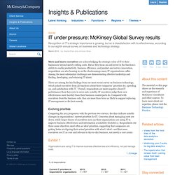 IT under pressure: McKinsey Global Survey results