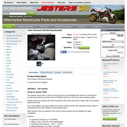 Tyre Pressure Monitoring System - Jesters Trick Bits Limited