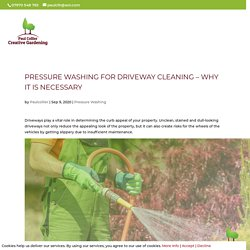 Pressure Washing for Driveway Cleaning – Why It is Necessary
