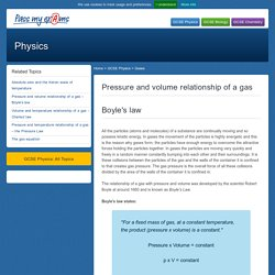 Pressure and volume relationship of a gas – Boyle's law - Pass My Exams: Easy exam revision notes for GSCE Physics