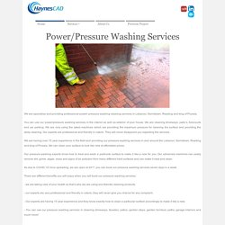 Power/Pressure Washing Services In Lebanon, Norristown, Reading, King Of Prussia