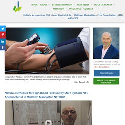 Lower High Blood Pressure Treatment by Natural Remedies
