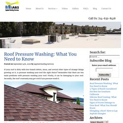 Roof Pressure Washing: What Important Things You Need to Know