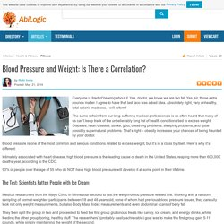 Blood Pressure and Weight: Is There a Correlation?