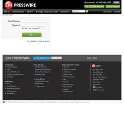 Member Log In - EIN Presswire - Press Release Distribution Service
