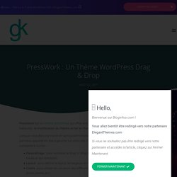 PressWork : Un thème WordPress Drag & Drop