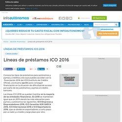 Préstamos ICO 2016 para autónomos y pymes