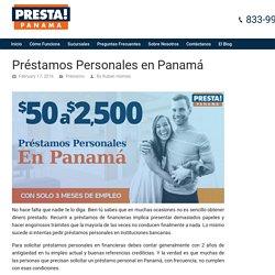 Préstamos Personales en Panamá - Presta Panamá