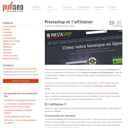 Prestashop et l'affiliation