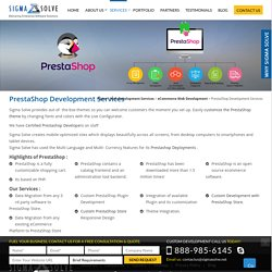 Prestashop Web Design and Development Services