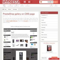 PrestaShop Fancybox gallery on CMS page