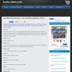 Smarty et Prestashop : La liste des variables globales utiles !