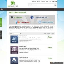 Best Free PrestaShop Modules, Extensions, Plugins and Addons - Prestashop Modules and Addons