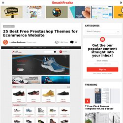 25 Best Free Prestashop Themes for Ecommerce Website