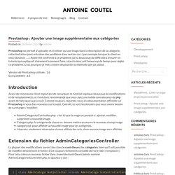 Prestashop : Ajouter une image supplémentaire aux catégories - antoine coutel