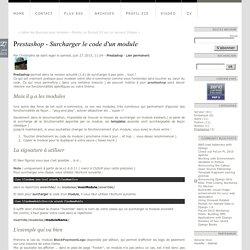 Prestashop - Surcharger le code d'un module