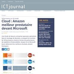 Cloud : Amazon meilleur prestataire devant Microsoft