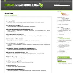 Prestataires Internet et entreprises Informatique dans la Drôme – Drôme Numérique