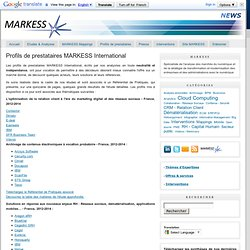 Profils de prestataires MARKESS International
