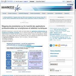 Mapping de prestataires sur le marché des applications professionnelles sur smartphones et tablettes numériques
