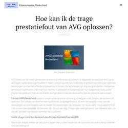 Los problemen met de trage prestaties van AVG op