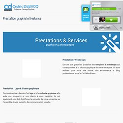graphiste freelance Auvergne - prestation webdesign, photographe