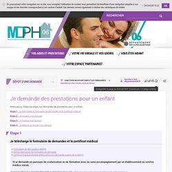 Je demande des prestations pour un enfant - Département des Alpes-Maritimes