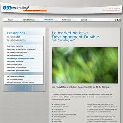 Le marketing et le Développement Durable -