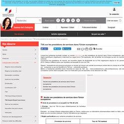 TVA sur les prestations de services dans l'Union européenne