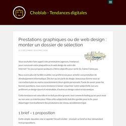 Prestations graphiques ou de web design : monter un dossier de sélection