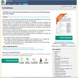 Modèle de contrat de prestations de services informatiques (accord cadre)