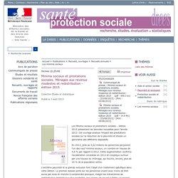 Minima sociaux et prestations sociales. Ménages aux revenus modestes et