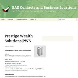 UAE Contact and Business Location