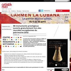 96 monuments prestigieux ouverts gratuitement lors des Journées européennes du patrimoine 2012