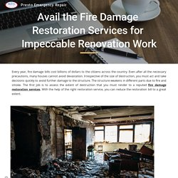 Avail the Fire Damage Restoration Services for Impeccable Renovation Work