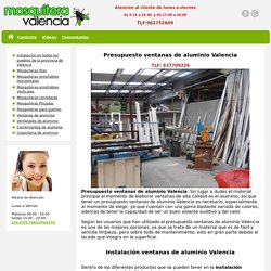 Ventanas de aluminio Valencia, instalación y presupuesto