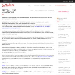 Prêt du livre numérique – Doc'Toulouse