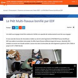 Le Prêt Multi-Travaux bonifié par EDF