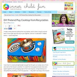 DIY Pretend Play Cooktop from Recyclables | Frugal Family Fun Blog