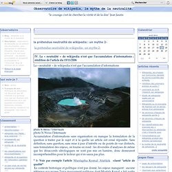 la prétendue neutralité de wikipedia : un mythe 2-