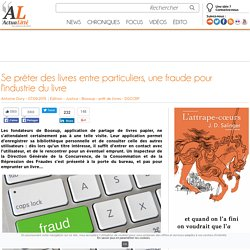 Se prêter des livres entre particuliers, une fraude pour l'industrie du livre