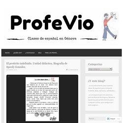 El pretérito indefinido. Unidad didáctica. Biografía de Speedy González.