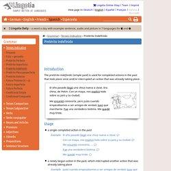Pretérito Indefinido - Lingolia Spanish