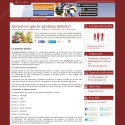 Qu'est-ce que le pretium doloris? - Redac recours