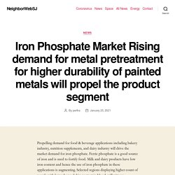 Iron Phosphate Market Rising demand for metal pretreatment for higher durability of painted metals will propel the product segment – NeighborWebSJ