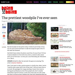 The prettiest woodpile I've ever seen