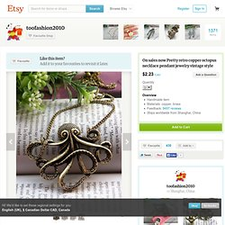 On sales now Pretty retro copper octopus by toofashion2010 on Etsy